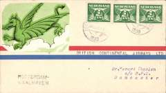 "(Netherlands) F/F Rotterdam to Doncaster, bs 6/8, 'Rotterdam - Waalhaven' hs, typed endorsement ""British Continental Airways Ltd, scarce ""Green Dragon"" label, only 38 flown."