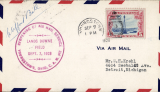 (United States Internal) Reopening of Lands Downe Air Field, airmail cover franked 5c canc Youngstown cds, and on to Detroit 8/9, fine strike circular magenta commemorative cachet, signed by Clifford Ball. The airport was dedicated as Lansds Downe Field in late October 1926 and was named after Lieutenant Commander Zachary Lansds Downe commander of the US Navy airship USS Shenandoah. It was the first airport in Youngstown and the first in the region to see airmail service.