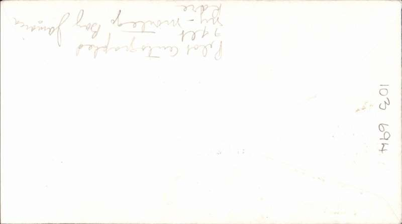 (Jamaica) Rare pilot signed F/F BOAC non stop Stratocruiser service, Montego Bay to New York, attractive red/white/blue embossed souvenir cover franked 8d Jamaica stamps canc Montego Bay cds, and US 10c tied by New York cds to confirm arrival. Scarce item in superb condition.