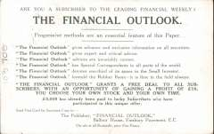 (GB Internal) Coronation Aerial Post, Financial Outlook trade advertisement olive-green London to Windsor card, public mail, die number 1 London cancel, addressed to Birmingham. Very fine.