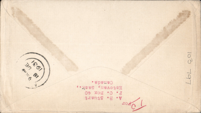 "(GB External) Imperial Airways, London to Moshi, bs 18/12, carried on First Christmas Flight, scarce Roessler green ""London to Cape/Air Mail/First Flight"" envelope, ref ROE.FF5, illustrated p91 Newton. Image."