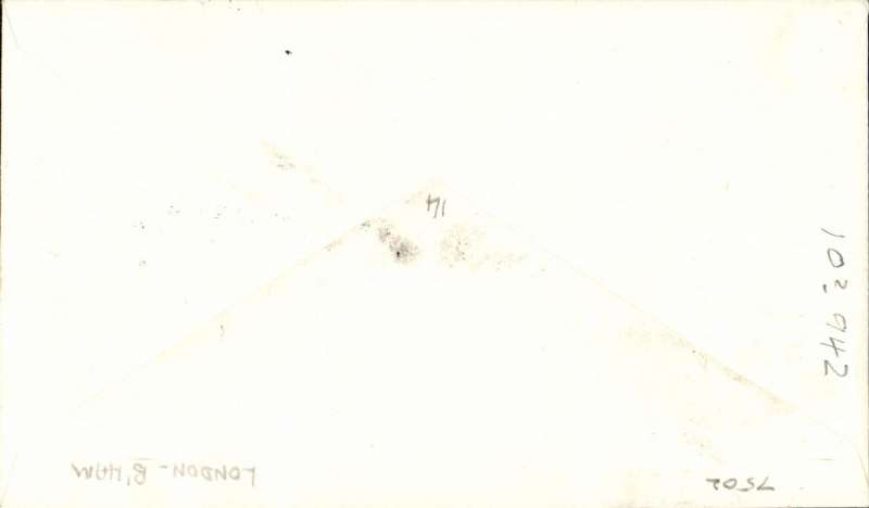 "(GB Internal) London to Birmingham, official cover franked FDI BEA 8d, cachet ""By Helicopter Service"", POA, BEA."