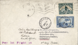 (South Africa) The second Stage of EAMS came into force in South Africa on 23/2/1938 , enabling mail to be sent all Empire Territories East of Suez, except Hong Kong and Australia, but also to Canada and Newfoundland, see Morton p55. A rare EAMS F/F from S. Africa-Canada, Pretoria to Marengo, Saskatoon, bs 11/3,  franked 1 1/2d, canc 'Pretoria 18 Feb 1938,  fine strike violet 'Per 1st Flight on/Empire Airmail /Scheme'. Four months later a Canada 6c stamp was affixed, canc Marengo Jun 15, and returned to sender. A truly scarce cover to a most unusual destination. Marengo is a small town with a population of c50, 250 miles from Saskatoon, 2250 from Toronto, and 7750 from London, which is 6000 miles from Cape Town. Images.