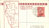 (Portuguese Angola) SAA, first direct service Luanda to Cape Town, attractive brown/cream ouvenir cover with map of route, frankedno arrival ds, Robertson cover franked 10C. Only three flights on this service before war broke out when service was abandoned due to lack of support.  Fine and scarce.