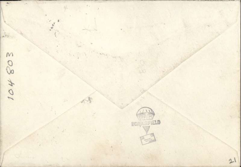 (Germany) Instone Air Line, Cologne to London, bs 12/12, via Brussels, plain cover, franked GB 1d x2 & 1 1/2d stamps, canc 'Army Post Office/11 Dec 22/S 40', ms 'Cologne-London', dark blue/black P25 airmail etiquette. The Army Post Office S40 was established in Cologne, Germany in 1919 to provide postal support of the first British Army of the Rhine (BAOR) and was closed in 1929 when the force was finally withdrawn from Germany. Francis Field authentication hs verso.