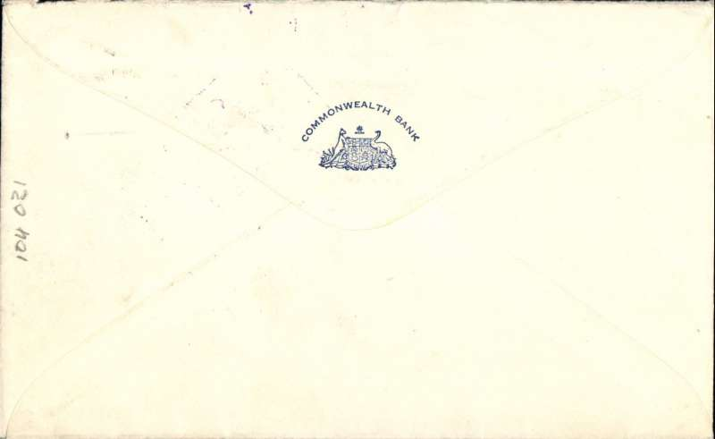 (Australia) Wartime airmail, Pacific Clipper services up to the attack on Pearl Harbour, Sydney to New York, Commonwealth Bank logo cover uncommon metre 4/-.  Correctly rated 4/- per 1/2oz for carriage to US,  flown by Pan Am FAM19 to San Francisco, then US internal air service to destination. The Pacific Clipper service ceased after the Japanese attack on Pearl Harbour on 11/12/41.