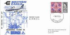 (Bermuda) British Eagle F/F Boeing 707 Hamilton to London, bs 4/5, souvenir cover franked 1/6d. Image.