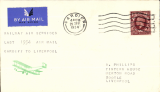 (GB Internal) Railway Air Services, last flight cardiff to Liverpool.