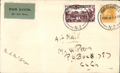 (New Zealand) Special Survey Flight, Invercargill to Christchurch, bs 12/11, signed by pilot M. C. McGregor. Francis Field authentication hs verso.