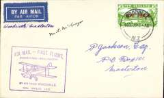 (New Zealand) Special Survey Flight, Woodville-Masterton, bs 16/3, cachet, signed by pilot C.M.McGregor.