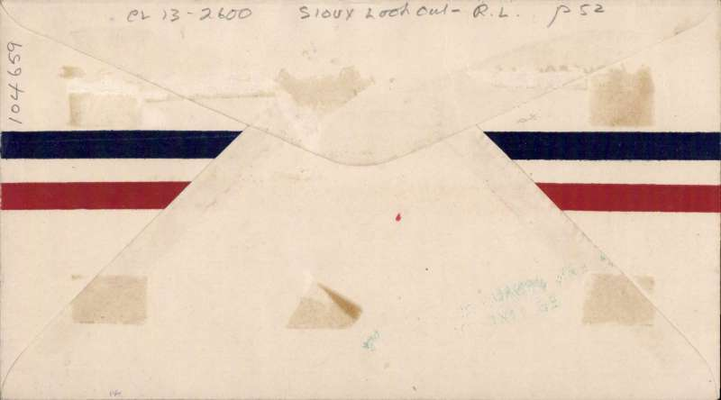 (Canada) Sioux Lookout to Red Lake, cover franked with 2c. plus Patricia Airways Exploration C13 tied by Red Lake cds, also green two line 'Western Canada Airways Ltd/Red Lake, Ont'.