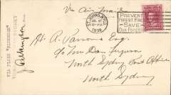 (Newfoundland) Harbour Grace to North Sydney bs 27/7, plain cover franked 4c, typed 'Via Plane Bluenose', signed J.Pilkington.
