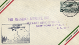 (Mexico) First flight airmail cover Mexico City to NY bs.