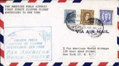 (Uruguay) First flight airmail cover Montevideo to NY bs.