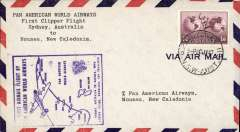 (Australia) First clipper airmail flight Sydney to Noumea, bs.