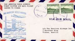 (Newfoundland) First clipper airmail flight Gander to Vienna, bs.