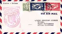 (Portugal) First clipper airmail flight Lisbon to Bolama, bs