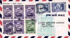 (Portuguese Guinea) First clipper airmail flight Bolama to San Juan, bs