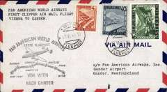 (Newfoundland) First clipper airmail flight into Gander, Newfoundland form Vienna, bs
