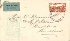 (New Zealand) Christmas Survey flight, Wellington to Auckland, bs 24/12, fine F/F cachet, attractive 'Buy Health Postage Stamps fro Childrens' Health Camps' vignette verso.