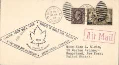 (Canada) Balbo Flight commemorative cover, Montreal to Chicago,bs 16/7, fine official cachet. Francis Field authentication hs verso.