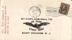 (Canada) Pioneer Airmail, Victoria, B.C. to Seattle, Washington, winged eagle 'By Airplane Mail to' cover franked 3c canc Victoria/BC cds, red three line 'First Trip - Canada -US/Regular Hydroplane Mail Ser/vice Oct 15, 1920.