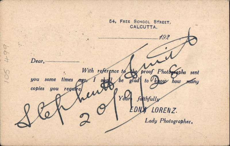 (India) Indo-Burma Flight, By Dutch Plane, 1st Official Mail, 1/4 anna PSC addressed to Genral Ridgeway and tied Park Street/ Calcutta, Sep 20 1928 postmark, to PSE Rangoon G.P.O. Sep 21 1928, arival cds on front. Card signed by Stephen H. Smith and carried on the Calcutta, India-Rangoon, Burma, leg of K.L.M. Royal Dutch Airlines 1st Official Experimental Airmail from Amsterdam, Netherlands to Batavia, Java, Dutch East Indies, by Captain G. A. Koppen.