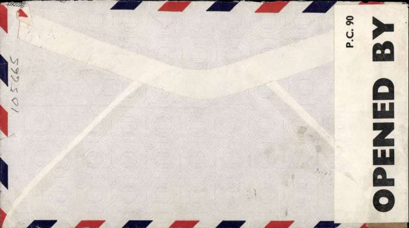 (World War II ) World War II double censored airmail cover, Curacao to London, pale grey airmail cover franked 120c, sealed PC90 OBE 6267 Bermuda censor tape overlying plain brown, likely Miami US censor tape.