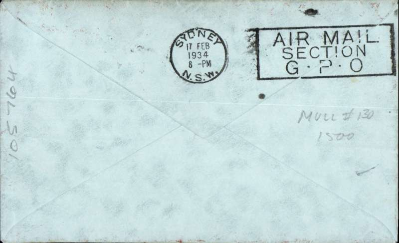 """(New Zealand) CP Ulm, First official mail, Auckland to Sydney, bs17/2, franked 7d """"Trans Tasman"""" opt, special cachet, ornate bordered cover with biplane silhouette."""