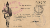 (Australia) Canadian cigarette donation to troops in the 2nd Field Regt.  RCA. Thank you letter to the cigarette donor from Field Post Office 311.