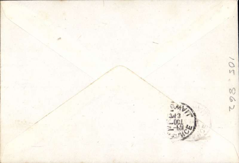 "(GB Internal) BEA/Great Western & Soutern air lines PERMANENT airmail surcharge cachet, Scilly to Penzance. Plain cover franked 2 1/2d canc black rectangular ""Letter By BEA/PAID (ms)..........4d"".  Scarce, p10, Lister P., Airway Letters of the United Kingdom, 1994."