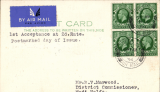 (GB External) LONDON TO WADI HALFA, bs 24/11, first acceptance of mail for Sudan, at the new 2d Flat Rate for cards, IAW southbound service #AS195. PC franked 2d, carried Heracles to Brindisi, Satyrus to Wadi Halfa. See Movements of Aircraft on Imperial Airways African Route 1931-1939, P Wingent, pub 1991. Scarce item, difficult to find. Francis Field authentication hs verso.