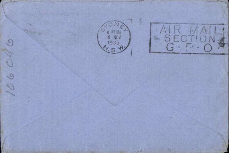 (GB External) London to Sydney, bs 16//1, airmail addressed to member of crew of S.S.Orion, c/o Orient Line Agents, airmail etiquette cover franked 1/3d. S.S.Orion was one of the most famous ships on the Australia immigrant run.
