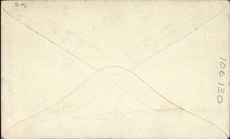 (Australia) Airmail etiquette cover to UK, franked 5d, canc Middleton cds, carried all the way by 'Coorong' on Imperial Airways Sydney-Southampton Service flight #SW15. Letter inside, refers to Tasmania.