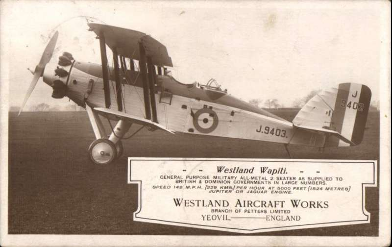 (GB External) UNDERPAID airmail GB to Egypt, EDINBURGH to ALEXANRIA, Egypt 19 SP 27 cds tying Egypt 3ml postage due on front. Retrned to sender 5/10 arriving Edinbugh 10/10 cds tying GB 1d postage due. Sepia photocard showing Westland Wapiti J.9403 on the ground, ms 'Via London-Alexandria', underfranked franked 1 1/2d control pair 'Pure Virginia Cigarettes). One for the exhibit!