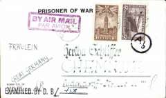 (Selections) Canada airmail collection of 29 mostly first and special flights 1928-1931, no duplication. Also noted are 1932 St. Lawrence Seaway  North Atlantic air-sea acceleration service 1927-39, first flight Ottawa to England via Bradore Bay, and 1943 World War II German prisoner of war northern trans Atlantic airmail from Canada to Germany, Internment Camp #132.  All covers are scanned on the website.