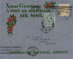 "(Selections) GB Externals, collection of 34 flight covers, mostly 1930's, including many first flights, noted are Tasmania acceptance for Kingsford Smith's return flight, England to Australia,"" All the Way"" Christmas and New Year flight, London to Hobart, Imperial Airways Dec 1931,  London to South Africa Christmas flights and  March 1931 to Kisumu, 1959 Comet 4 to Singapore. All lots are scanned on the website."