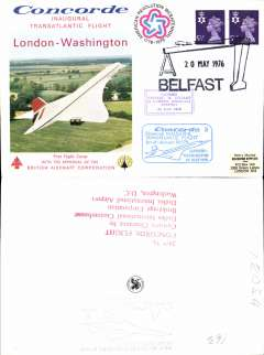 (Selections) Concorde selection of ten F/F's 1976-78, plus 1977 inaugural London-New York flights ms. All scanned on website.