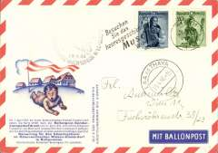 (Selections) Austria, collection of 35+ balloon covers and cards, all scanned on website.