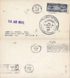 (Selections) United States 1926 Contract Air Mail First Flights (15), all 1926, fully cacheted and back stamped, no duplication. Scans of the front and back of all covers in this collection will be found on the web site.