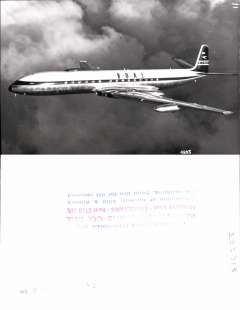 (Ephemera) Comet,  a collection of seven original black and white photographs from the 1950s, and nine unused PPC's, showing planes from Air Ceylon, BOAC, Kuwait Airlines, Olympic Airways and Dan Air (16).