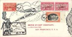 (Philippines) Trans Pacific 'China Clipper' F/F FAM 14, Manila to San Francisco, bs 6/12, attrtactive and uncommon printed souvenir air cover franked 30c and 10cx2 'Initial Flight' opts, and 1P ordinary, black framed flight cachet, Pan Am.