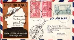 (United States Internal) Reopening of Lovell Field, Chatanooga Airport, attractive commemorative cover franked 9c.