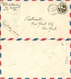(Belgian Congo) Congo-South Africa, Jadotville to Kimberley, via Elizabethville 23/2 and Broken Hill 24/2, plain cover franked 4F air and 2F ordinary, black framed 'Avion' hs. To Elizabethville by rail, to Broken Hill by Aero Club de Katanga, and by Imperial Airways AS103 to Kimberley. Nice routing. Non invasive ironed horizontal crease.