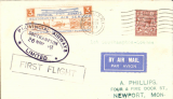 (GB Internal) Inauguration of the third GB Internal Airmail Service,  Southampton to London, 3d orange bi-coloured vignette tied by violet oval Provincial Airways Southampton depart cachet, London arrival cds  28 Nov due to unforseen landing at Heston.  West Country Air Service of Provincial Airways Ltd. The service operated for six days only.